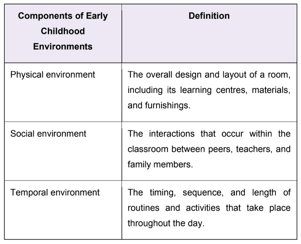 Interdependent Components of an Early Childhood Ecosystem